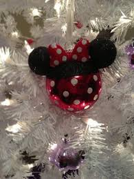 painted mickey and minnie mouse glass ornaments on etsy