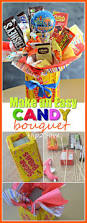 diy candy bouquet fun u0026 easy gift idea candy bouquet easy