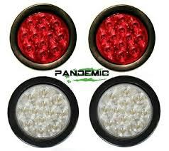 universal led tail lights universal 4 red or clear lense led tail lights includes 2 lights