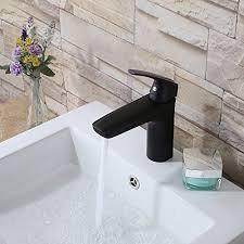 Matte Black Bathroom Faucet Lever Utility Sink Store