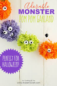 Halloween Garland Craft by Diy Pom Pom Monster Garland Make It And Love It
