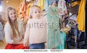 happy mother her daughter bought blue stock photo 642887770