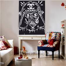 online shop canvas painting banksy star wars poster for graffiti