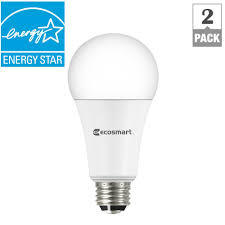daylight led light bulbs ecosmart 40 60 100 watt equivalent a19 3 way led light bulb