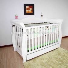 Sleigh Bed Crib Baby Nursing Bed Baby Cot Bed With Drop Side Baby Sleigh Bed Cribs