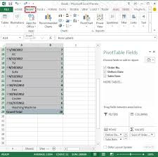 Pivot Table In Excel 2013 Use Of Timeline In Pivottable In Excel 2013