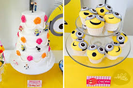 Minion Cake Decorations Kara U0027s Party Ideas Minions Themed Birthday Party Planning Decor