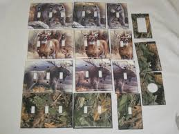 bear light switch covers realtree camo bear deer moose light switch plate cover hunting lodge