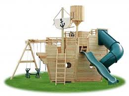 Pirate Ship Backyard Playset by Pirate Ship Table Lamp Wooden Swing Sets For Your Landscape Area