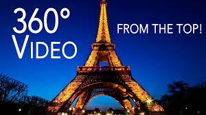 eifel tower 360 degree video on top of eiffel tower in paris virtual reality