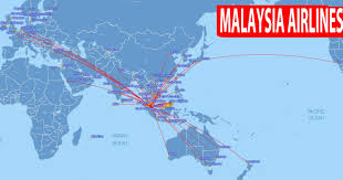 United Route Map Malaysia Airlines Bali Aero Travel