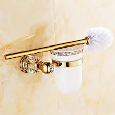 Wall Mounted Bathroom Accessories Sets by Antique Gold Bathroom Hardware Set Luxury Crystal Wall Mounted