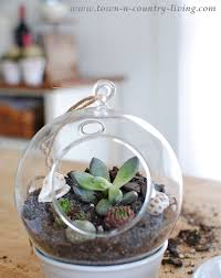 make your own hanging globe terrariums town u0026 country living