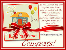 congrats on your new card new home messages and wishes 365greetings