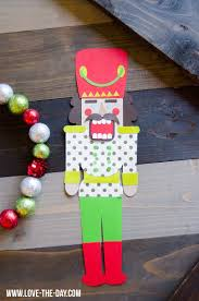 easy christmas crafts a diy paper nutcracker