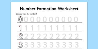 number formation teaching resources number writing page 1