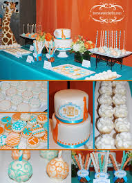 baby shower colors orange baby shower ideas babywiseguides