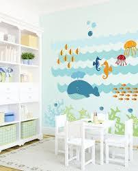 stickers animaux chambre bébé design interieur sticker mural chambre bébé thème animaux mer
