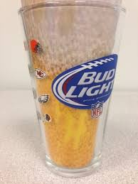 bud light touchdown glass app bud light nfl 32 team pint glassthe beer gear store
