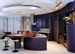 amusing uniquie shape german kitchen cabinets features purple