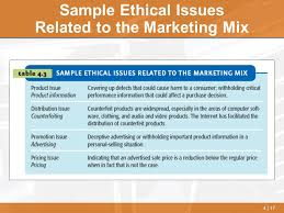 ethical issues in marketing chapter 4 social responsibility and ethics in marketing ppt