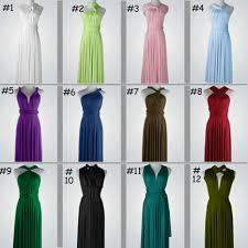 set of 5 bridesmaid dress mint green infinity dress mint floor