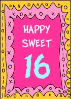 printable 16th birthday cards printable cards