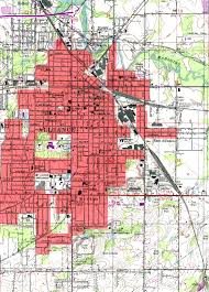 Chicago City Limits Map by Ohio Road Maps City Street Maps With Oh Travel Directions Print