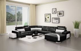 living room design with black leather sofa echanting of sofas