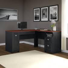 Bush Computer Desk With Hutch by Amazon Com Fairview L Shaped Desk In Antique Black Kitchen U0026 Dining