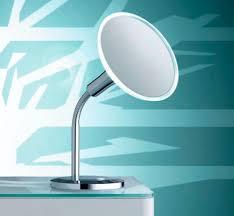 table bathroom mirror illuminated magnifying contemporary