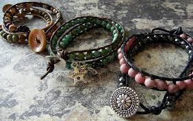 leather bracelet wrap make images How to make wrapped leather bracelets rings and things jpg