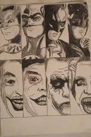 pencil drawing all batman and joker actors youtube