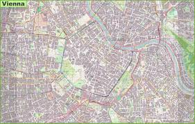 map of vienna large detailed map of vienna