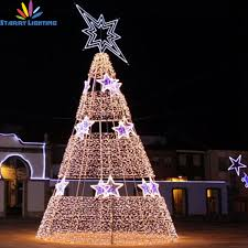 outdoor big pvc artificial tree light outdoor big