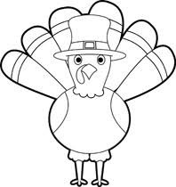 free clip of thanksgiving day clipart black and white 7615