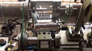 unimat lathe with dental engine motor youtube