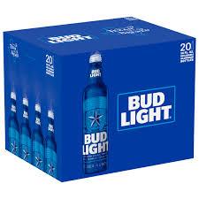 busch light aluminum bottles bud light beer 20 pack 16 fl oz walmart com