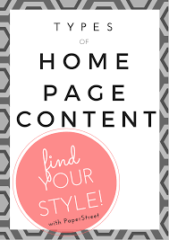 the different types of home page content paperstreet