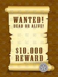 poster wanted dead or alive on wood texture royalty free vector