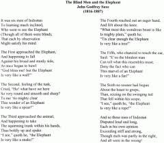 Blind Men And The Elephant Poem The Elephant And 5 Blind Men U2013 Jill Hampton James Wordsmith