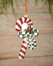 mackenzie childs courtly candy cane christmas ornament neiman marcus