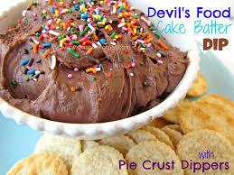 devil u0027s food cake batter dip pie crust dippers crazy for crust