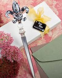 fleur de lis letter opener murano fleur de lis letter opener black white gold letteropener