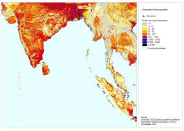 India Population Map by South Asia Population Density 2002 India Reliefweb