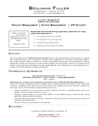 resume examples personal assistant resume template objective