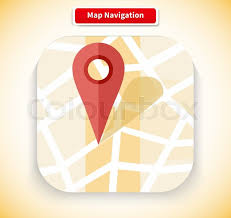 search road map map navigation app icon flat style design gps navigation