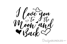 i you to the moon and back by font design bundles