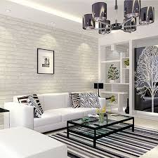 wallpaper for livingroom white grey real looking brick pattern wallpaper wp120 pinteres