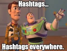 people hash tag everything imgflip
